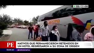 Estudiantes nativos encerrados 40 días en hotel logran regresar a su región