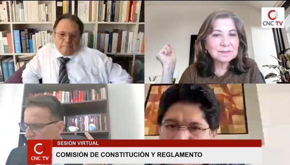 Primera sesión ordinaria de la Comisión de Constitución.