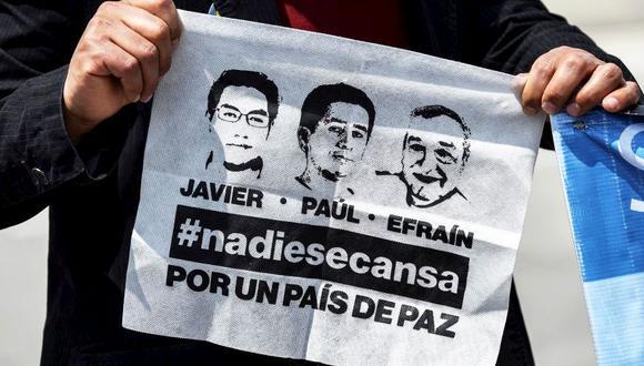 Colombia confirma que los tres cuerpos hallados pertenecen al equipo de prensa de El Comercio de Ecuador. (Foto: AFP)