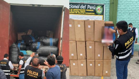 Pucusana: Incautan 4 millones de soles en contrabando camuflado bajo harina de soya (Foto: PNP)
