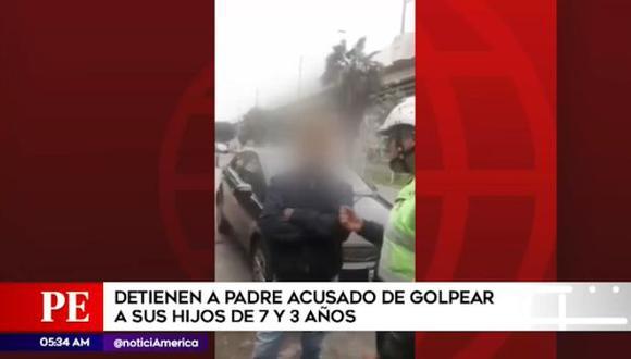 El padre de familia fue detenido el miércoles último tras ser denunciado por vecinos. (Captura: América Noticias)