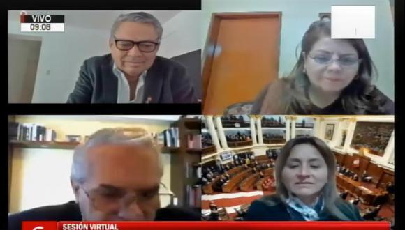 Rolando Ruiz, de Acción Popular, presidió la sesión pero se frustró por la ausencia de algunos integrantes. (Congreso TV)
