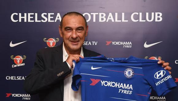Maurizio Sarri se une a Chelsea por las siguientes tres temporadas (Foto: Chelsea).