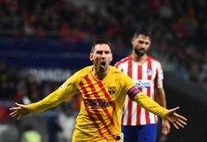 Barcelona se impuso por 1-0 al Atlético de Madrid con golazo de Lionel Messi en el Wanda Metropolitano