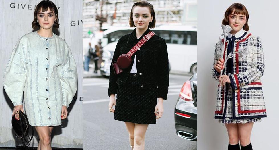 La reconocida actriz de Game of Thrones lució espectacular en cada una de sus apariciones durante la Semana de la Moda de París. (Fotos: Instagram/ @instylemagazine)