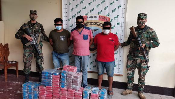 """Junín: camioneta cae con 168 kilos de cocaína y en persecución detienen unidad que era """"campana"""" (Foto: PNP)"""