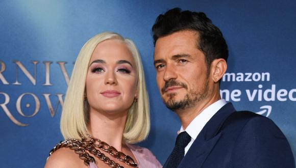 Katy Perry y Orlando Bloom mantienen una relación desde 2016.  Se comprometieron en febrero de 2019 y este 2020 tendrán a su primer bebé (AFP)