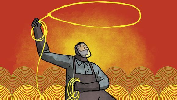 Minería, un arma contra la crisis. (Ilustración: Víctor Aguilar/ El Comercio)