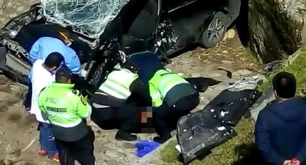 La Policía Nacional investiga las causas del accidente. (Foto: Andina)