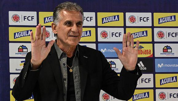 Carlos Queiroz es actualmente entrenador de la selección de Colombia. (Foto: AFP)
