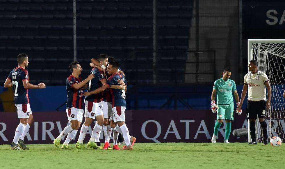 Universitario vs. Cerro Porteño: Así celebró Carrizo tras convertir el 1-0 | Foto: Agencias