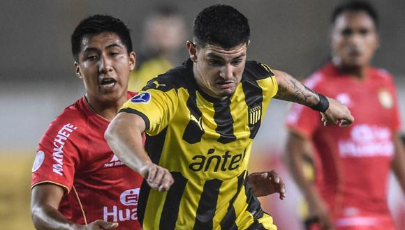 Peñarol empató sin goles ante Sport Huancayo pero clasificó a la siguiente fase de Copa Sudamericana. | Foto: AFP