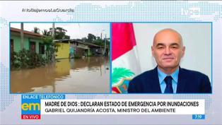 """Ministro Gabriel Quijandría sobre inundaciones en Madre de Dios: """"La situación es preocupante"""""""