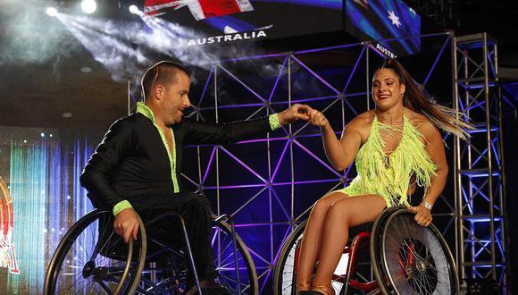 Colombia: bailarines en silla de rueda inspiran en el Mundial de Baile Latino.   Foto: EFE