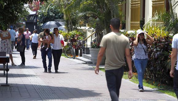 En Lima Oeste, la temperatura máxima llegaría a 26°C, mientras que la mínima sería de 20°C.  (Foto: GEC)