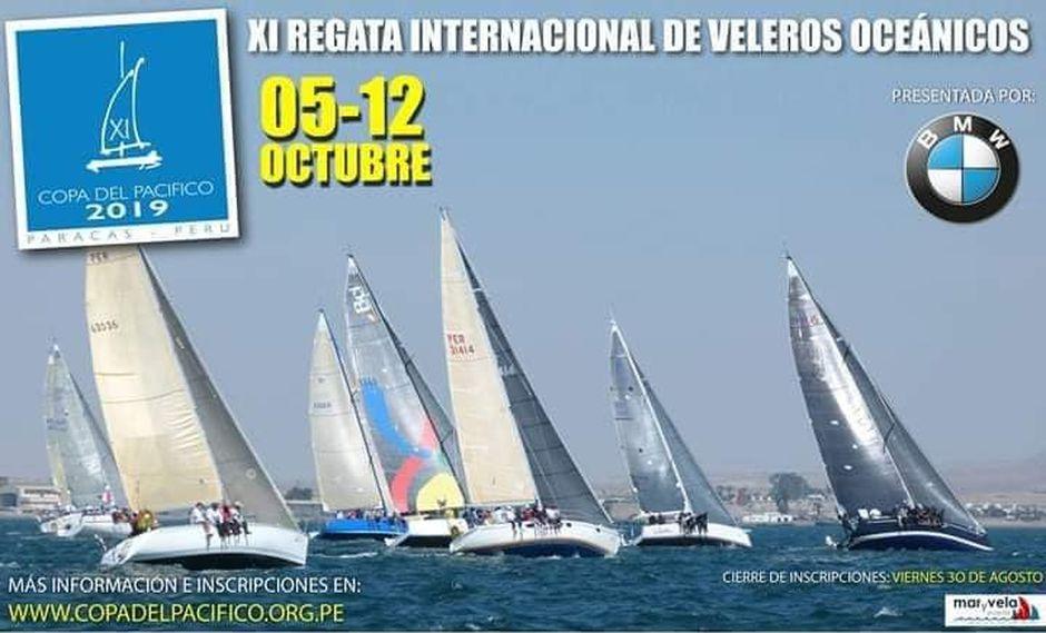Certamen internacional de Veleros Oceánicos contará con una veintena de veleros que competirán desde el 5 hasta el 12 de octubre. (Foto: Facebook)