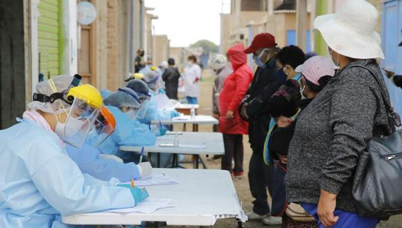 En los últimos días, las autoridades sanitarias han detectado más de 160 nuevos casos en los principales mercados mayoristas de Chimbote. (Cortesía Red de Salud Pacífico Norte)