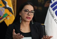 Presidenta del CNE de Ecuador avisa que no tolerará retraso en segunda vuelta