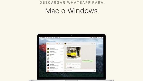 De esta manera podrás tener WhatsApp Web descargado en tu PC o computadora de forma simple. (Foto: MAG)
