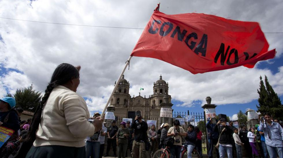 Ambientalistas contra Conga marcharon en el centro de Cajamarca - 1