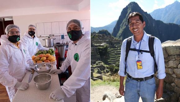 Efraín Valles, guía de turismo desde hace 20 años en Cusco, empezó a preparar helados artesanales de pura fruta en medio de la pandemia por el coronavirus. (Foto: Archivo personal Efraín Valles)