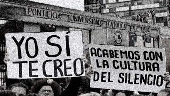Estudiantes organizadas protestaron esta semana para exigir un protocolo de atención ante casos de violencia de género. (Foto: FEPUCP)