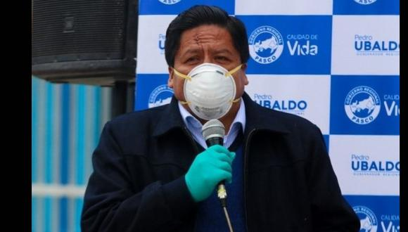 Gobernador de Pasco contrajo COVID-19 y permanece en aislamiento domiciliario. (Foto: Facebook   Pedro Ubaldo)