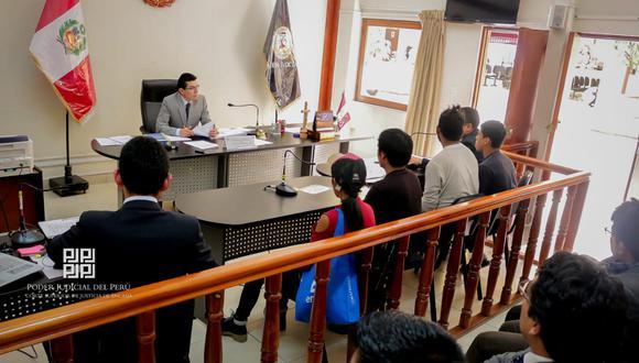 El Segundo Juzgado de Investigación Preparatoria de Huaraz ordenó la encarcelación de ambos extranjeros. (Foto: Cortesía Poder Judicial de Áncash)