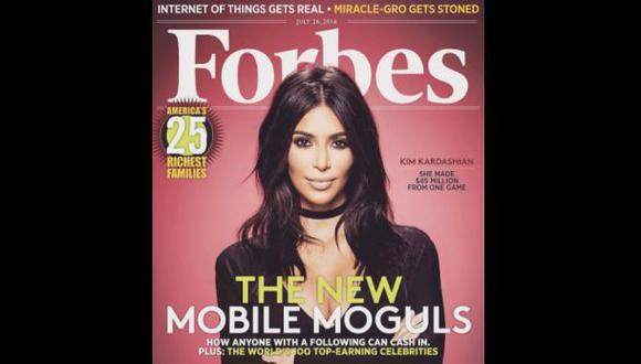 Kim Kardashian fue portada de Forbes y envío mensaje a 'haters'