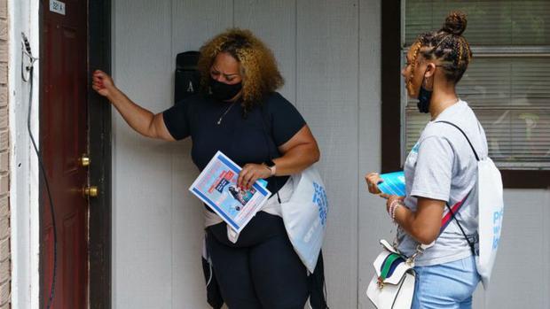 In Alabama, authorities have promoted door-to-door vaccination.