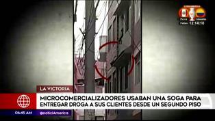 La Victoria: Microcomercializadores usaban una soga para entregar droga