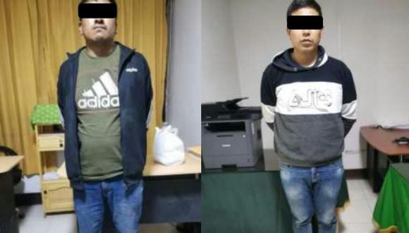 Puno: Cinco ladrones disparan contra policías y atrapan a dos en persecución (Foto: PNP)
