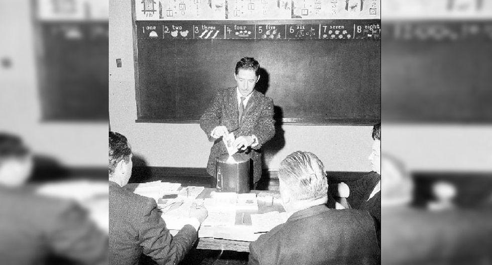 Más de 2 millones de peruanos cumplieron con su deber cívico para elegir a los candidatos de su preferencia el 15 de diciembre de 1963. (Archivo: El Comercio)