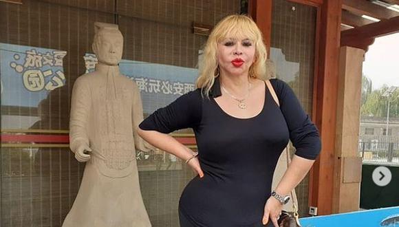 Susy Díaz durante uno de sus viajes (Foto: Instagram)