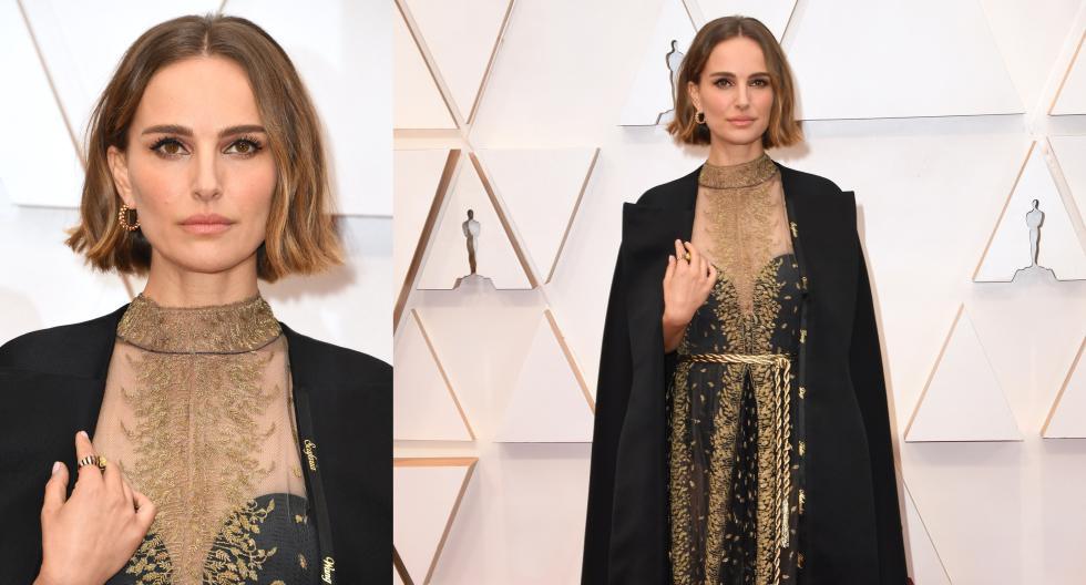 Natalie Portman decidió alzar la voz por aquellas directoras de cine que no habían sido nominadas en un bordado especial de su traje para el Oscar 2020. (Fotos: AFP)