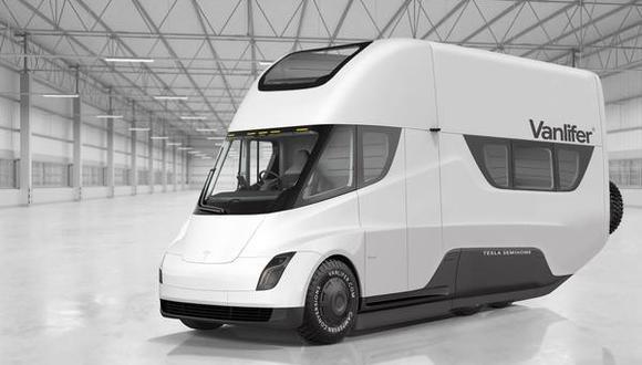 Este diseño de Vanlifer ha tomado como punto de partida al Tesla Semi, el primer camión eléctrico de la compañía que rodará las calles en el 2020. (Fotos: Vanlifer).
