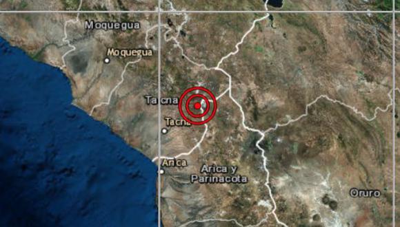 De acuerdo con el IGP, el epicentro de este movimiento telúrico se ubicó a 34 kilómetros al sureste de Tarata. (Foto: IGP)