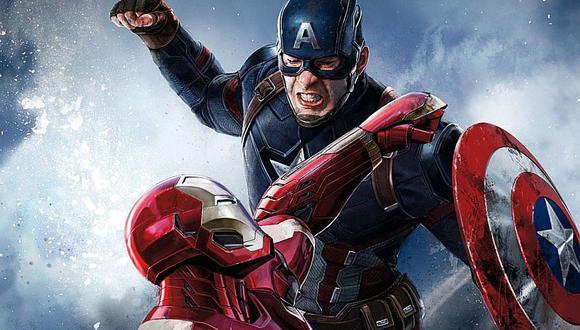"""Capitán América (Chris Evans) e Ironman (Robert Downey Jr.) en combate. Intercambiaron golpes en """"Capitán América: Civil War"""" (2016)"""