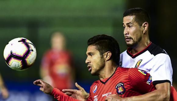 El gol agónico de Bernardo Cuesta a los 89 minutos le dio la clasificación al FBC Melgar de Arequipa a la fase de grupos. (Foto: AFP)