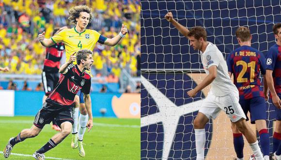 Thomas Muller abrió el marcador en ambos partidos, ante Brasil y Barcelona. (Foto: AFP / Reuters)