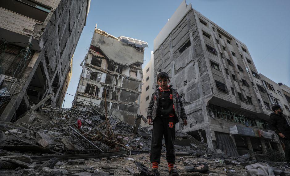 Así quedó parte de Gaza tras los bombardeos perpetrados por Israel el lunes. (EFE).