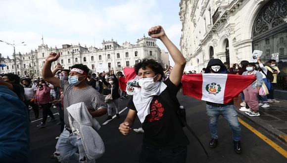 Protestas se realizar en Lima y otras regiones del país en contra de la vacancia de Martín Vizcarra y asunción se Manuel Merino. (Foto: Hugo Pérez/GEC)