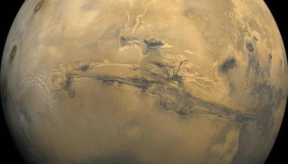 Marte es el cuarto planeta del sistema solar. (Foto: NASA)