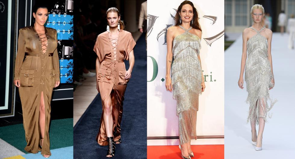 Aquí te mostramos los vestidos de lujo que lucieron las modelos en pasarela versus lo que llevaron las celebridades en las 'red carpet'. (Foto: AFP/ @ralphandrusso)