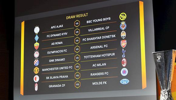 Así se jugarán los partidos de octavos de final de la Europa League | Foto: EFE