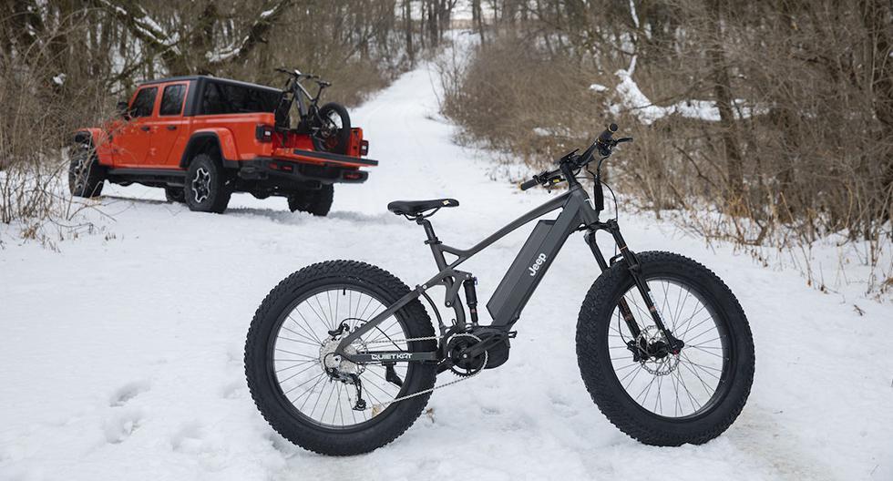 Jeep se unió a QuietKat para presentar la e-bike, su bicicleta eléctrica capaz de dominar hasta la nieve. (Fotos: Jeep).