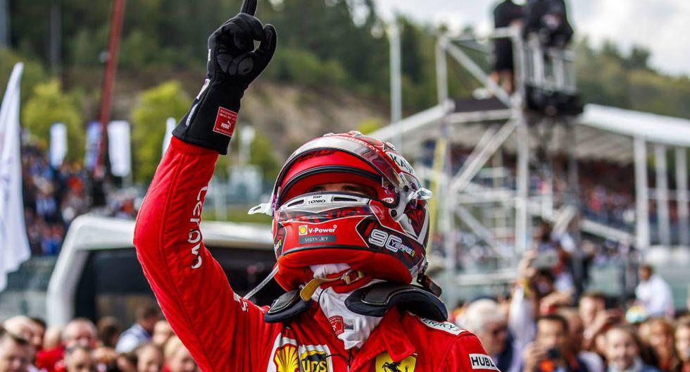 Leclerc le dedicó el triunfo a su amigo fallecido Anthoine Hubert. (Foto: EFE)