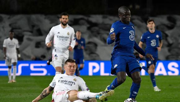 Kanté fue la figura de los dos partidos entre Chelsea y Real Madrid. (Foto: AFP)
