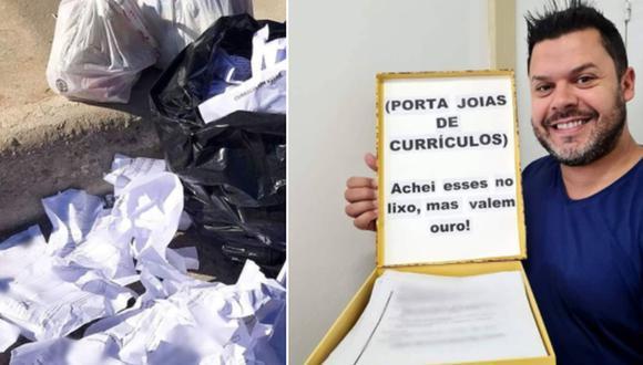Un hombre encontró 62 currículums en la basura, decidió repartirlos y consiguió trabajo para 14 personas. (Foto: @kaka_davilapoa / Instagram)
