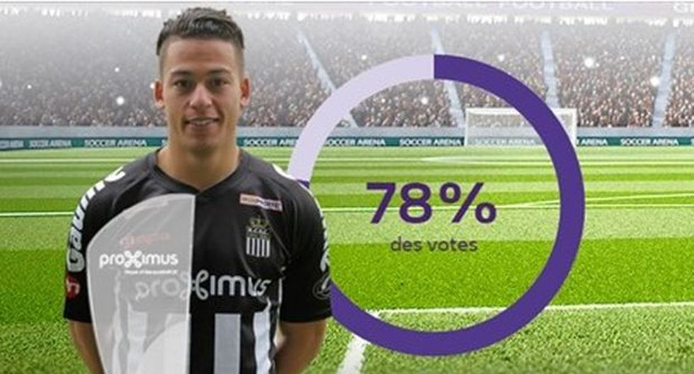 Cristian Benavente ganó su primer premio en Sporting Charleroi